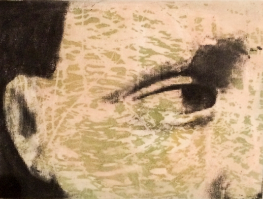 """Gaze"" 9""x 12"" Mixed Media Print on Paper 2014"