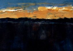 """Eventide"" 22"" x 30"" Monotype 2013"